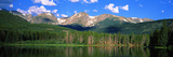 Lake with Mountain Range in the Background, Sprague Lake, Rocky Mountain National Park, Colorado Photographic Print by  Panoramic Images