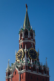 Low Angle View of the Spasskaya Tower, Kremlin, Red Square, Moscow, Russia Photographic Print by Green Light Collection