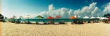 People Relaxing under Umbrellas on the Beach, Morro De Sao Paulo, Tinhare, Cairu, Bahia, Brazil Photographic Print by  Panoramic Images