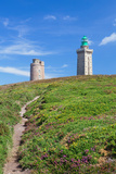 Lighthouse on the Coast, Cap Frehel, Cotes-D'Armor, Brittany, France Photographic Print by Green Light Collection