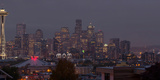 Skylines at Dusk, Seattle, King County, Washington State, USA Photographic Print by  Panoramic Images