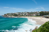 High Angle View of the Bronte Beach, Sydney, New South Wales, Australia Photographic Print by Green Light Collection