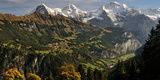Lauterbrunnen Valley with Mt Eiger and Mt Monch in the Background, Sulwald, Bernese Oberland Photographic Print by  Panoramic Images