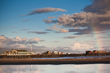 Harbor and Stearns Wharf, Santa Barbara, California, USA Photographic Print by Green Light Collection