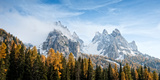 Dolomite Mountains in Fall, Toblach, Alto Adige, Italy Photographic Print by  Panoramic Images