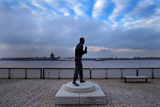 Statue of Captain Frederick John Walker, Pier Head, Liverpool. England Photographic Print by Green Light Collection