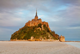 Cathedral on an Island, Mont Saint-Michel, Manche, Basse-Normandy, France Photographic Print by Green Light Collection