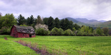 Barn in Keene Valley in Spring Adirondack Park, New York State, USA Photographic Print by  Panoramic Images