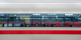 Distorted Reflections on Ice Train Windows, Baden-Wurttemberg, Germany Photographic Print by  Panoramic Images