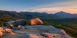 Evening Light on the Balanced Rocks on Pitchoff Mountain, Adirondack Park, New York State, USA Photographic Print by  Panoramic Images