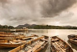 Rowboats on Derwentwater, Lake District National Park, Cumbria, England Photographic Print by Green Light Collection