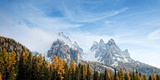 View of Dolomite Mountains in Fall, Toblach, Alto Adige, Italy Photographic Print by  Panoramic Images