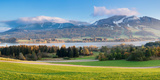 Gruntensee Lake in Autumn, Ostallgau, Allgau, Bavaria, Germany Photographic Print by  Panoramic Images