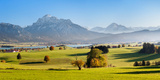 Prealps Landscape with Forggensee Lake at Sunset, Fussen, Ostallgau, Allgau Alps, Bavaria, Germany Photographic Print by  Panoramic Images