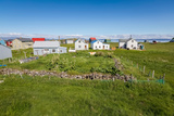 Sumer Houses, Flatey Island, Borgarfjordur, Iceland Photographic Print by Green Light Collection
