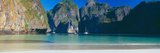 Rock Formations in the Sea, Phi Phi Islands, Phuket Province, Thailand Photographic Print by  Panoramic Images