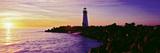 Lighthouse on the Coast at Dusk, Walton Lighthouse, Santa Cruz, California, USA Photographic Print by  Panoramic Images