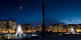 Trafalgar Square at Night, London, England Photographic Print by  Panoramic Images