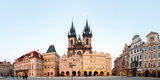 Tyn Cathedral on Old Town Square, Mala Strana, Prague, Bohemia, Czech Republic Photographic Print by  Panoramic Images