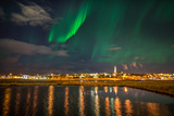 Aurora Borealis or Northern Lights, Reykjavik, Iceland Photographic Print by Green Light Collection