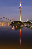Tower at a Harbor, Rheinturm Tower, Media Harbour, Dusseldorf, North Rhine Westphalia, Germany Photographic Print by Green Light Collection