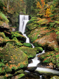 Triberg Waterfall in Autumn, Black Forest, Baden-Wurttemberg, Germany Photographic Print by Green Light Collection
