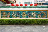 Dragon Frieze Outside a Building, Singapore Chinese Chamber of Commerce and Industry, Singapore Photographic Print by Green Light Collection