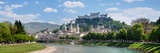 Old Town at Salzach River with Hohensalzburg Castle and Dom Cathedral, Salzburg Photographic Print by  Panoramic Images