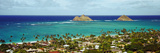 Rock Formations in the Pacific Ocean, Lanikai Beach, Oahu, Hawaii, USA Fotografisk tryk af Panoramic Images,