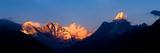 Mountain Range at Dusk, Ama Dablam, Khumbu, Himalayas, Nepal Photographic Print by  Panoramic Images