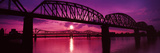 Bridges over a River at Dusk, Louisville, Kentucky, USA Photographic Print by  Panoramic Images