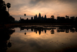 Temple at the Lakeside, Angkor Wat, Angkor Thom, Siem Reap, Angkor, Cambodia Photographic Print by Green Light Collection