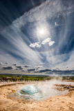 Strokkur Geyser About to Erupt, Iceland Photographic Print by Green Light Collection