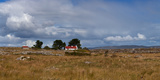 Cottage and Rocky Barren Landscape on Lettermore Island, Connemara, County Galway, Ireland Lámina fotográfica por Panoramic Images,
