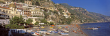 Houses in the Village on a Hill, Spiaggia Di Marina Grande, Positano, Amalfi Coast, Italy Photographic Print by  Panoramic Images