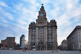 The Liver Buildings, Liverpool, Merseyside, England Photographic Print by Green Light Collection