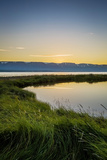 Midnight Sun over Eyjafjordur, Akureyri, Iceland Photographic Print by Green Light Collection