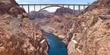 Hoover Dam Canyonland and Bridge Connecting Two States Nevada-Arizona, USA Photographic Print by Green Light Collection