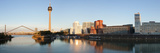 Rheinturm Tower with Neuer Zollhof Buildings at Media Harbour, Dusseldorf Photographic Print by  Panoramic Images
