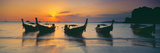 Fishing Boats in the Sea, Railay Beach, Krabi, Krabi Province, Thailand Photographic Print by  Panoramic Images