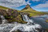 Kirkjufellsfoss Waterfalls, (Church Mountain Falls) Grundarfjordur, Snaefellsnes Peninsula, Iceland Photographic Print by Green Light Collection
