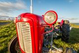 Farm Tractor, Flatey Island, Borgarfjordur, Iceland Fotografisk tryk af Green Light Collection