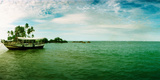 Wooden Boat Moored on the Beach, Morro De Sao Paulo, Tinhare, Cairu, Bahia, Brazil Photographic Print by  Panoramic Images