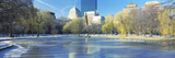 Frozen River with Skyscrapers in the Background, Boston, Massachusetts, USA Photographic Print by  Panoramic Images