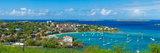 Boats at a Harbor, Cruz Bay, St. John, Us Virgin Islands Photographic Print by  Panoramic Images