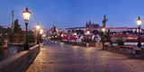 Charles Bridge with Castle District and St. Vitus Cathedral in the Background, Prague Photographic Print by  Panoramic Images