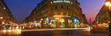 City Lit Up at Night, Palais Garnier, Paris, France Photographic Print by  Panoramic Images