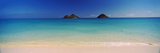 Islands in the Pacific Ocean, Lanikai Beach, Mokulua Islands, Oahu, Hawaii, USA Photographic Print by  Panoramic Images