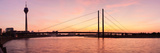Silhouette of Rheinturm Tower and Rheinkniebrucke Bridge, Dusseldorf, North Rhine Westphalia Photographic Print by  Panoramic Images