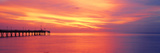 Pier in the Ocean at Sunset, Caspersen Beach, Sarasota County, Venice, Florida, USA Fotografisk tryk af Panoramic Images,